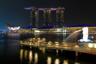 Marina Bay Sands + Merlion Park (Singapore)