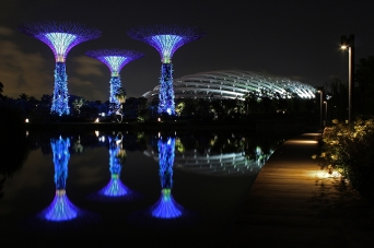 The Silver Garden at Gardens by the Bay (Singapore)
