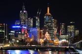 Melbourne CBD Night View