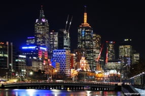 Melbourne CBD Night View