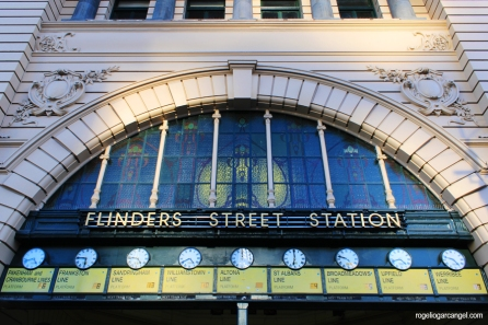 """The Clocks"" at Flinders Street Station"